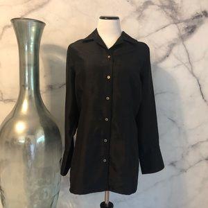 🆕 Lane Bryant Black Button Up Shirt Size 14/16